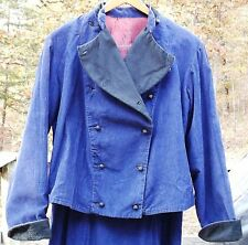 Victorian Women's Blue Corduroy Suit Hand Made Size 12 -14 Cosplay Steampunk