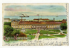AK Litho Norderney Ostfriesland  August 1899
