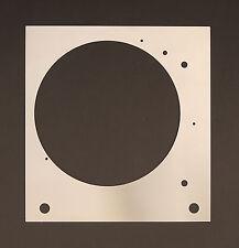 Deckplatte Platte face plate für Thorens TD 150 Plattenspieler Edelstahl