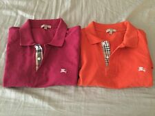 Lot of 2 Burberry men's polo's