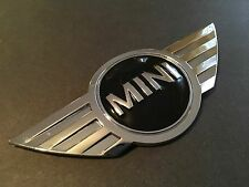Mini Cooper Emblem Metal Chrome Front Hood 3D Badge Logo Sticker