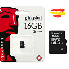 TARJETA MEMORIA 16GB KINGSTON MICROSD 16 GB MICRO SD ORIGINAL MOVIL KM16C4S