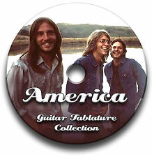 AMERICA ROCK GUITAR TABS TABLATURE SONG BOOK TUITION SOFTWARE CD