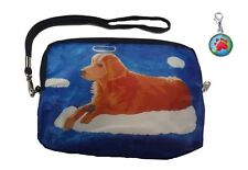 Angel Dog Wristlet with Signature Zipper Charm - From my orginal Painting, Ginge