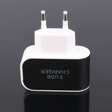 3.1A Triple USB Port EU Plug Travel AC Wall Charger Adapter For Samsung Phones~