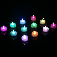 Homemory 1.5 Inch Colorful Flameless Flickering Electric LED Tea Lights Candles