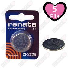 Renata Batteria CR2325 Litio 3V Pulsante Batteria Cr 2325 Pile A Bottone X5