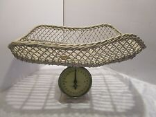 Antique Wicker Basket Baby Scale Family Scale 25 lbs. by the Oz. Room decor
