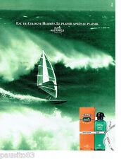 PUBLICITE ADVERTISING  046  1991  Hermès   eau de Cologne