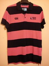 RUGBY UNION WORLD CUP 2015 PINK NAVY BLUE POLO SHIRT IRB CANTERBURY SIZE M BNWOT