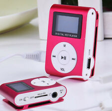 Portable LCD FM Radio Mini Clip MP3 Player Support Micro TF/SD+ Earphone+USB+Box