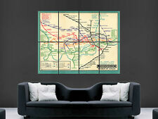 LONDON UNDERGROUND VINTAGE TUBE MAP CLASSIC  HUGE LARGE WALL ART POSTER PICTURE