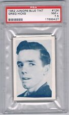 1952 Juniors Blue Tint Hockey Card Kitchener-Waterloo Grieg Hicks Graded PSA 7.5