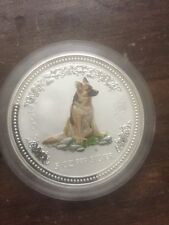 """2006 $8 (5oz) Australia """"Year of the Dog �� Silver  Colorized Coin"""