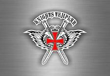 Sticker car biker maltese shield airsoft decal crusader cross templar knights JE