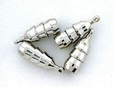 TWO SILVER COLOR BOLO BOLA TIPS WITH LOOP CF397
