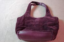 LADIES WOMEN JUNIORS ST JOHNS BAY PURSE HANDBAG HOBO BAG BURGUNDY CORDUROY CUTE