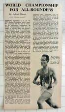 1950 Sgt Lacroix Of France Running World Championship With Broken Arm In Sling