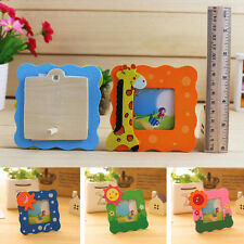 Wooden Mini Cartoon Small Photo Frame Children Picture Show Window Colorful Hot