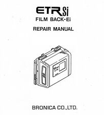 Bronica ETRsi Film Back Service Manual New