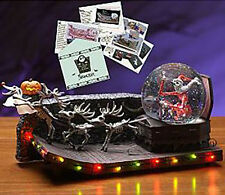 NBX Nightmare Before Christmas Santa Jack Skellington Music Snowglobe Snow globe