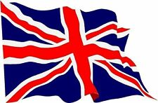 Union Jack flag  country Great (gt) Britain (gb) Blowing Sticker Decal Graphic