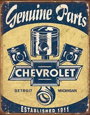 Chevy Parts - Pistons  Vintage Style Metal Signs Man Cave Garage Decor 69