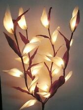White Parrot Princess Lily Flower Bouquet 20 light 4 branches table centrepiece