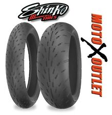 Shinko 003 Stealth Motorcycle Tire Front 120/70-17 & Rear 200/50-17 Set