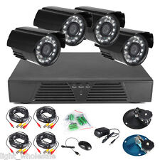 4CH CCTV Full D1 DVR Kit Security Network System +Waterproof Night Vision Camera