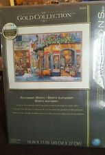 Gold Collection European Bistro Counted Cross Stitch Kit-NEW!