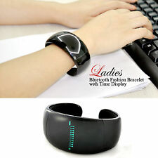 Bluetooth Fashion Bracelet with Mic + Speaker - Time Display, Caller ID