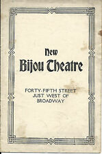 RARE 1917 THE BIJOU THEATER opening night  Program & 2 Ticket Stubs THE KNIFE