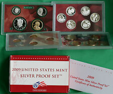 2009 United States Mint ANNUAL 18 Coin SILVER Proof Set Free Shipping in the USA