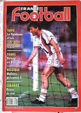 France Football du 9/08/1988; Susic/ Tours/ Cabanas/ Belgique, Malines