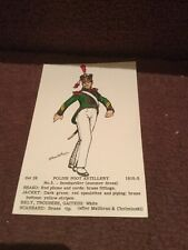 Old Post Card  Rene North Polish Foot Artillery Set 28 No 5