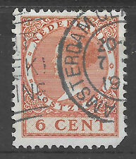 Netherlands 6c from 1926 - good Amsterdam post mark - netherlands