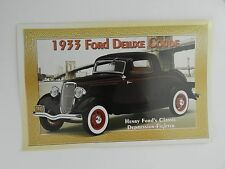 Danbury Mint 1933 FORD DELUXE COUPE Brochure Pamphlet Mailer