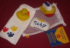 New BUILD-A-BEAR BATH KIT SET Accessory RUBBER DUCK Soap TOWEL TOY SHIP BOAT