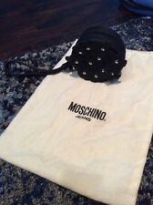 Moschino Jeans Black Studded Flower Wrist let Coin Purse With Dustbag Never Used