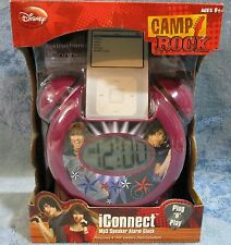 Disney MP3 Speaker Alarm Clock iConnect Plug N Play Rock Out With Camp Rock NEW