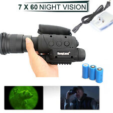 Rongland Infrared Night Vision IR Monocular Telescopes 7x60+3XBatteries+Charger