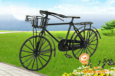 Dollhouse Miniature Black Wire Metal Bicycle Bike with Rotating Wheels 1/12