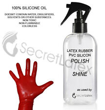 250ML SILICONE OIL SPRAY PUMP LATEX RUBBER SHINER POLISH CLEANER SHINE CLOTHES