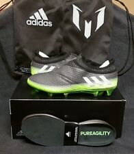 Adidas Messi 16+ Pureagility Firm Ground FG Soccer Cleats (US Sz 10) Black/Green