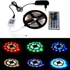 5M 3528 RGB 300 SMD Flexible LED Strip Light 44key Remote 12V 2A Power Supply TR
