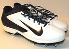 New Nike Air Huarache Pro Low Metal Mens Baseball Cleats Size 15 White Black