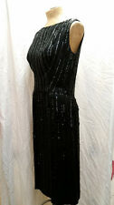 Vintage 1960's Silk Sequins Rayon Wiggle Dress by Cate's First Avenue Size M