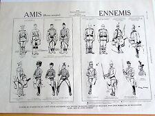 GUERRE 1914 18 / AMIS / ENNEMIS  / SC 321 /   ILLUSTRATION ANCIENNE