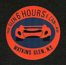 Watkins Glen 6 Hours & Can-Am Race Sticker, Vintage Sports Car Racing Decal